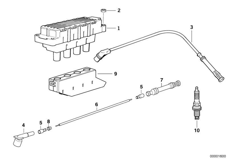 bmw ignition coil/spark plug 318i e36 | hubauer-shop.de  hubauer-shop.de