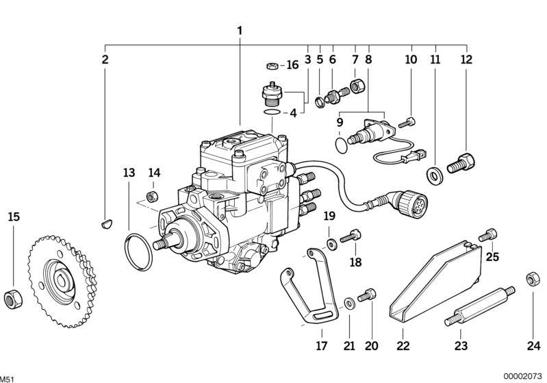 BMW DIESEL INJECTION PUMP 525td E34 | HUBAUER-Shop de