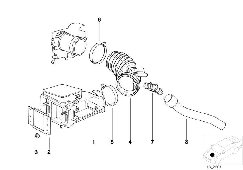 Bmw Volume Air Flow Sensor 518g E34