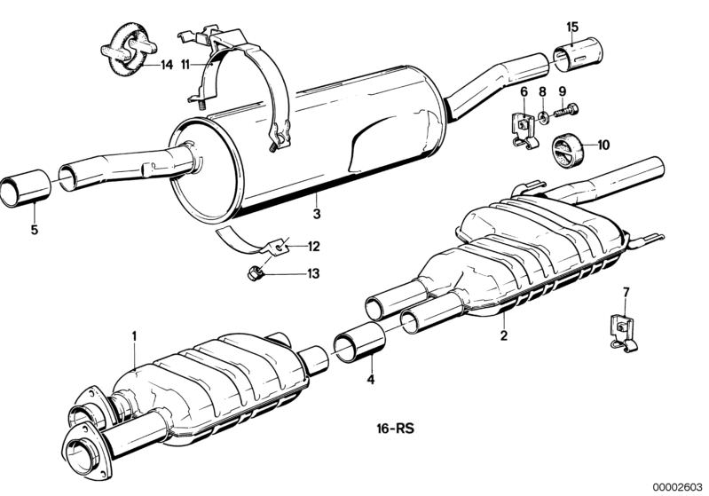 Exhaust System Parts 525ea Saloon E28