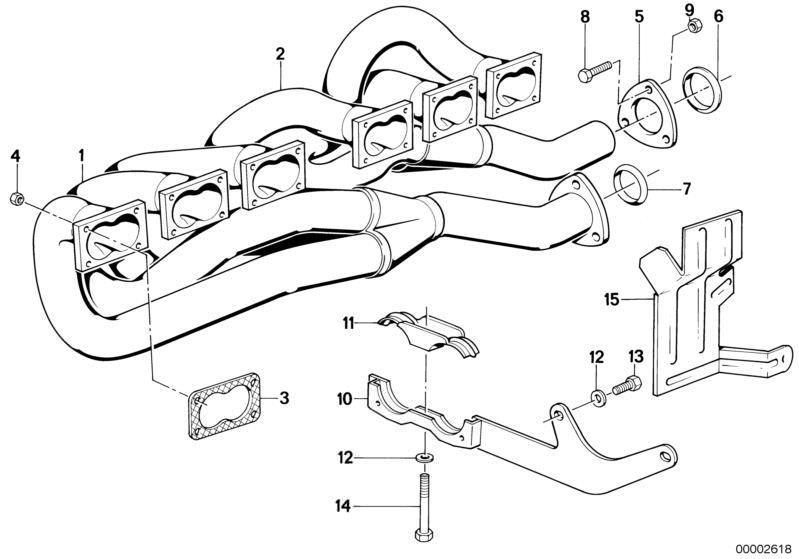 Ersatzteile Abgasanlage M5 Limousine E28