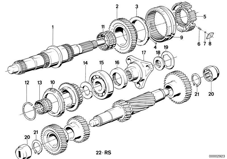 Manual Transmission parts 518iA Saloon E28 | HUBAUER-Shop de