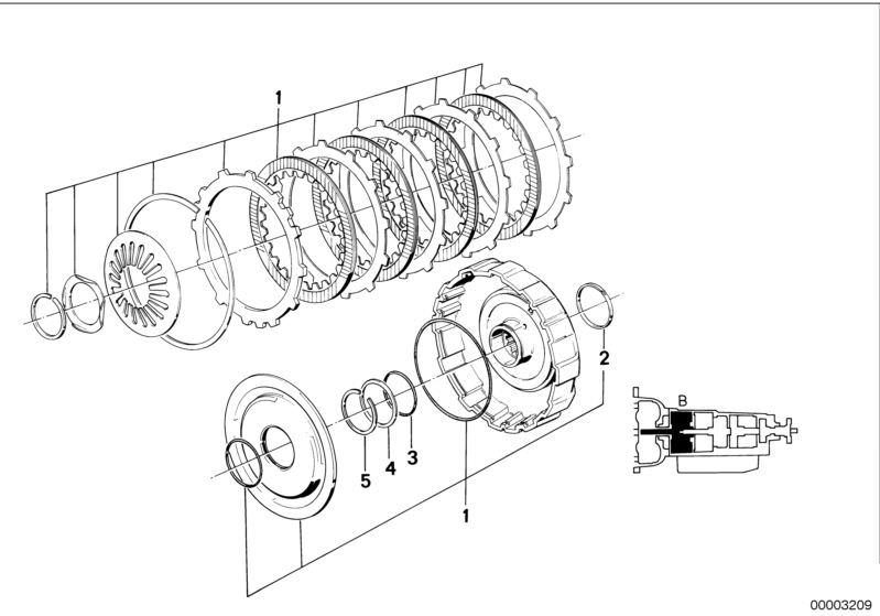 Automatic Transmission Parts 324tda 4 Doors E30