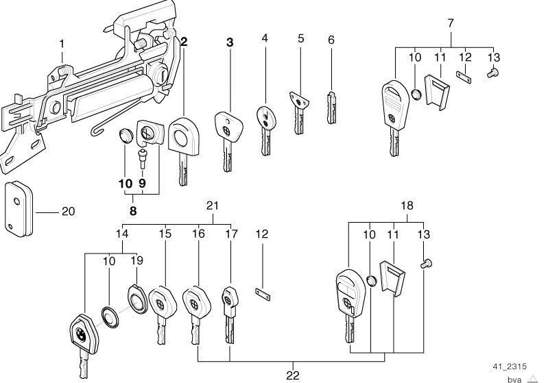 bodywork parts 525ia saloon e34 hubauer shop de Wiring Circuits central locking system door handle front lock key