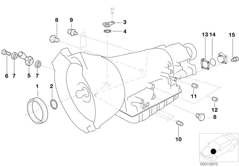 Automatic transmission parts 523iA Saloon E39 | HUBAUER-Shop de