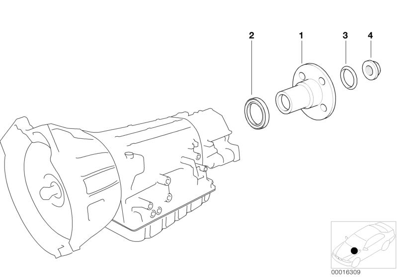 Automatic transmission parts 523iA Saloon E39   HUBAUER-Shop de