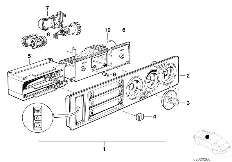 BMW Air Conditioning Control 518i E34   HUBAUER-Shop de