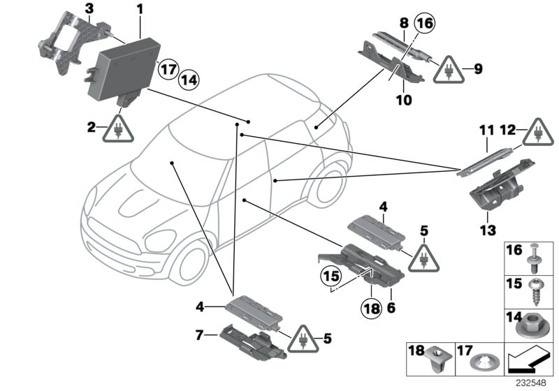 Vehicle Electrical System Parts Cooper S Clubman R55 Facelift Lci