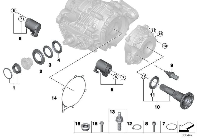 BMW Rear axle diff  QMV sep  components X5 30dX F15