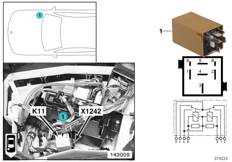 BMW Relay, windscreen wipers K11 530d E39 | HUBAUER-Shop de