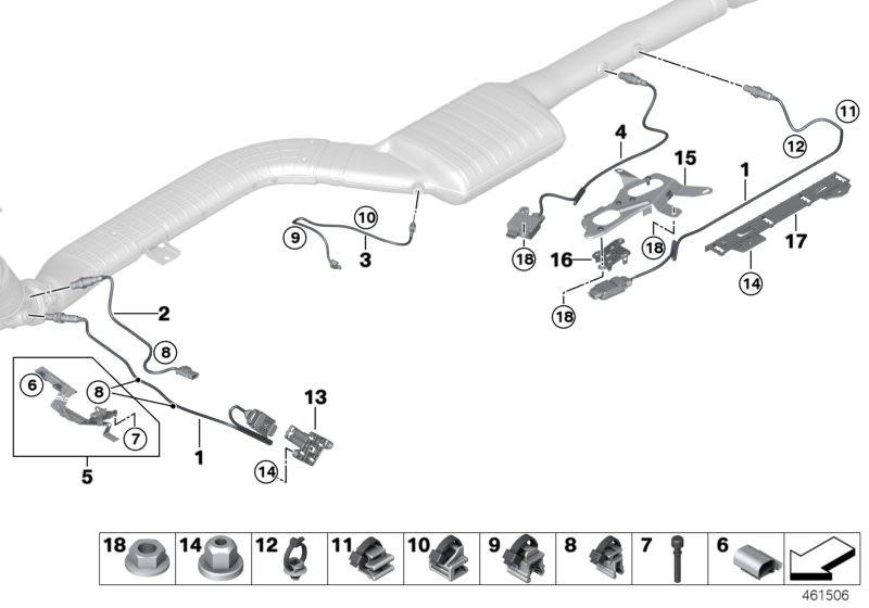BMW Exhaust sensors / sensor NOX / SCR 730d G11 | HUBAUER-Shop de