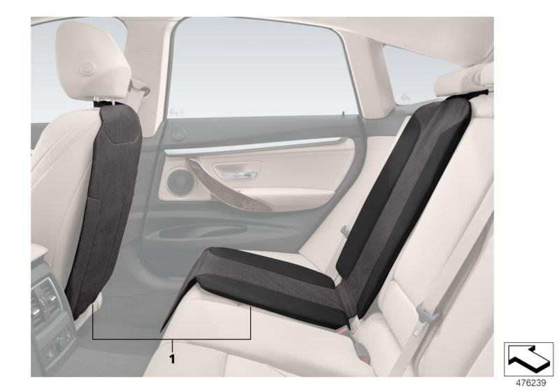 Original BMW Lehnenschutz und Kindersitzunterlage