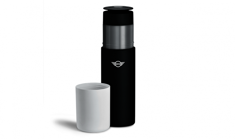MINI Travel Flask BLACK / WHITE