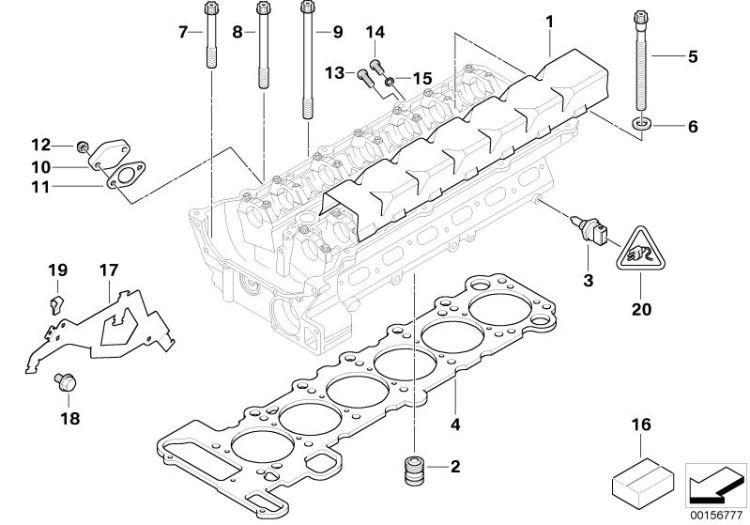 NEW BMW E83 E85 X3 X5 Z4 Z3 Cylinder Head Gasket Set 11 12 0 141 055
