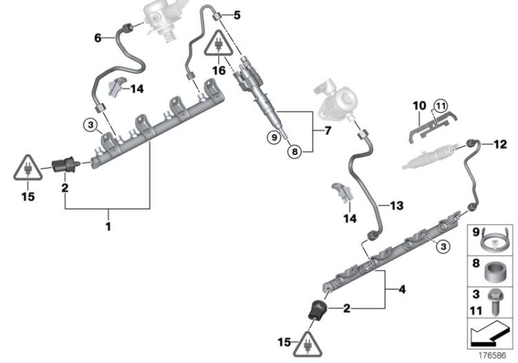 Original BMW Injector  (13538616079)