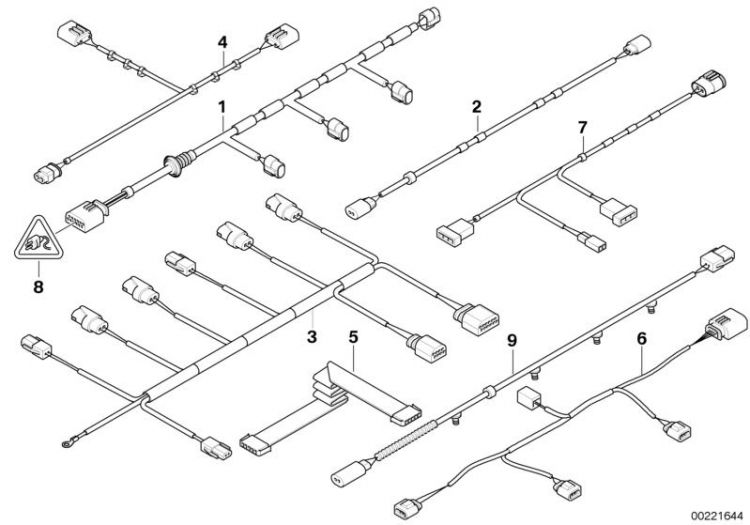 Original Bmw Wiring Set Pdc Front X6, Bmw X5 E70 Wiring Diagram