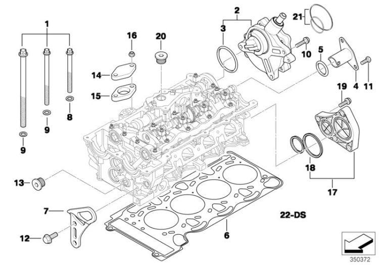 New BMW E46 E90 E60 X3 E83 N42 N46 N46N Vacuum Pump Seal Kit 11668626471