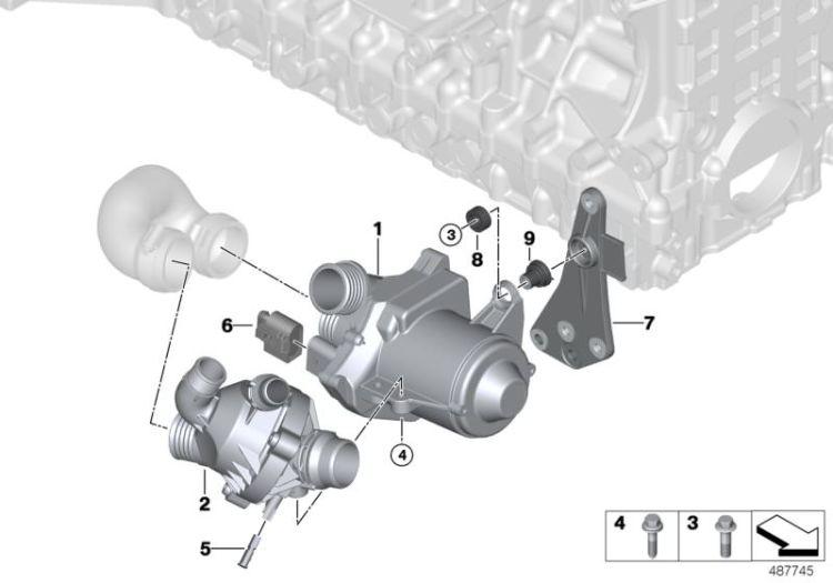 Coolant Pump Electrical I3 I01 Hubauer Shop De