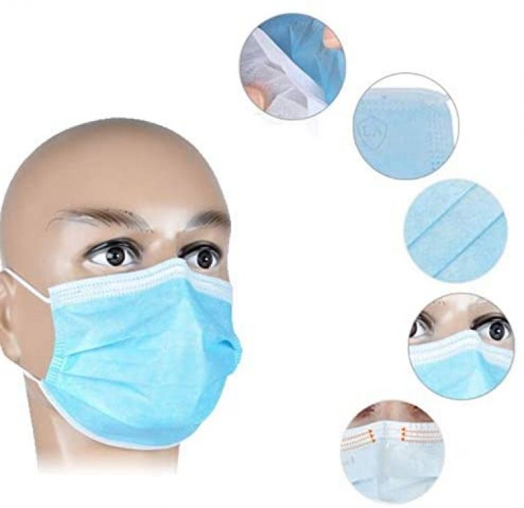 Disposable Mouth and nose mask mask (blue) 5 pieces