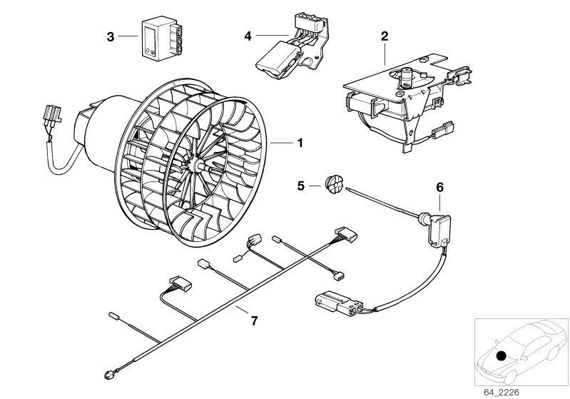 Original BMW Evaporator temperature sensor (64518364458)
