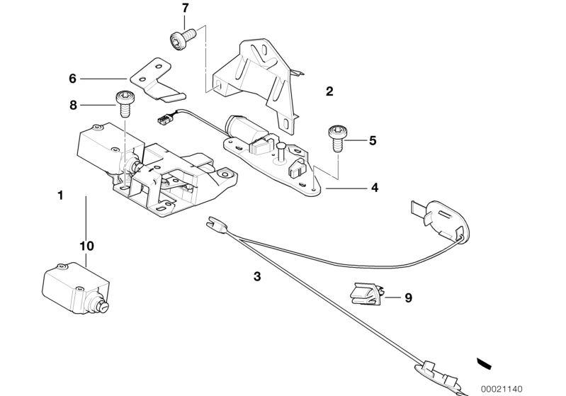 Genuine BMW E39 520d 520i Pulling Strip For Emergency Mechanism 51248232520