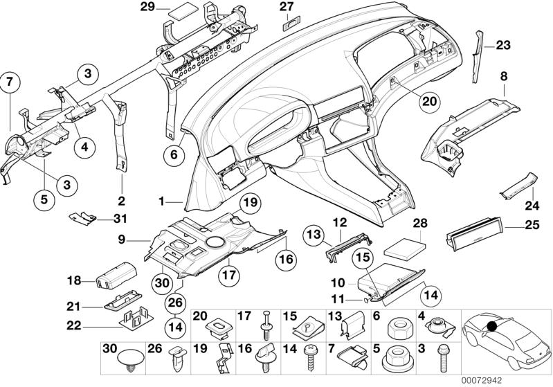 Original BMW Hinged Partment Grau Number 10 In The Illustration: BMW 330ci Engine Bay Diagram At Hrqsolutions.co