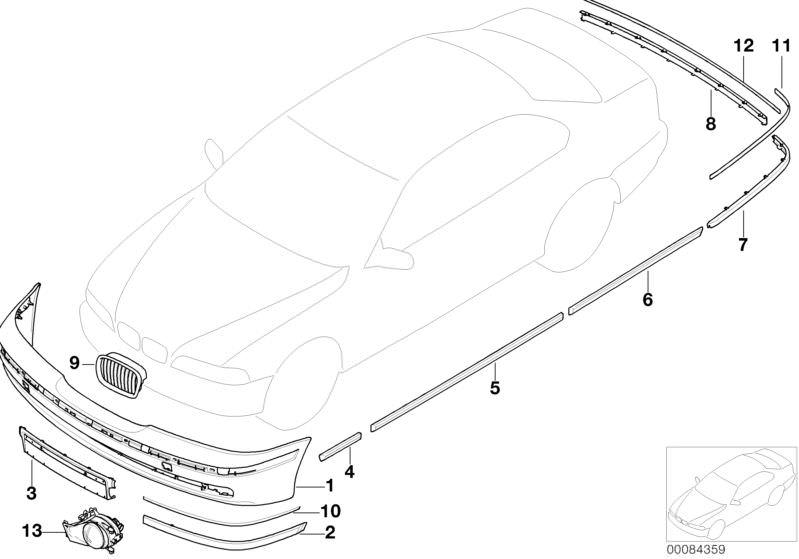 Blende Windlauf 5er Original BMW 51718159292