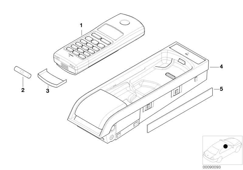 Voorkeur Original BMW Battery cover, keypad handset 6er E24 SIEMENS BIT II QX79
