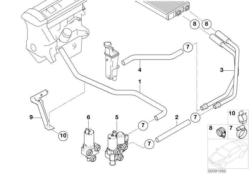 BMW Genuine Hose F Additional Water Pump//Water Valve