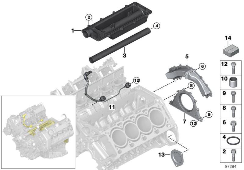 BMW SERIE I E81 E88 E82 E90 E91 E92 E93 Bullone esagonale M8X30-8.8-ZNS3 07119902901
