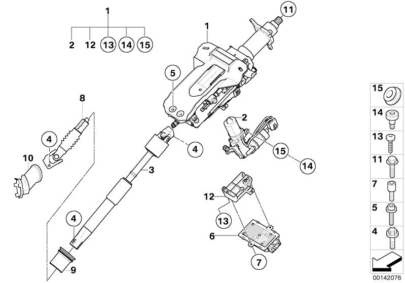 Original BMW Universal joint with corrugated tube (32306780900)