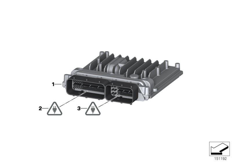 Original Bmw Basic Control Unit Dme 3er F30 Msd812 Hubauer Shop De