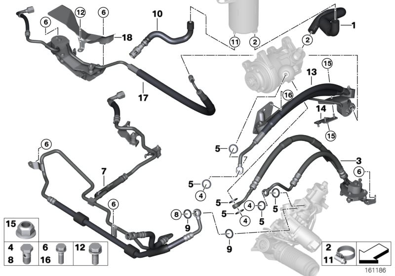 Original Bmw Radiator Return Line X6 F16