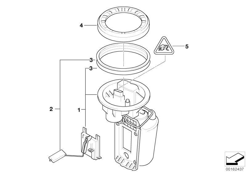 Original Bmw Fuel Pump With Fuel Level Sensormini Countryman R60 50l Hubauer Shop De