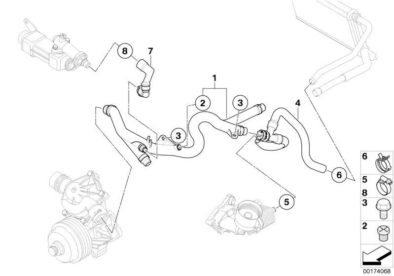 Original Bmw Hose Cooler Exhaust Gas Recirculation X3 F25
