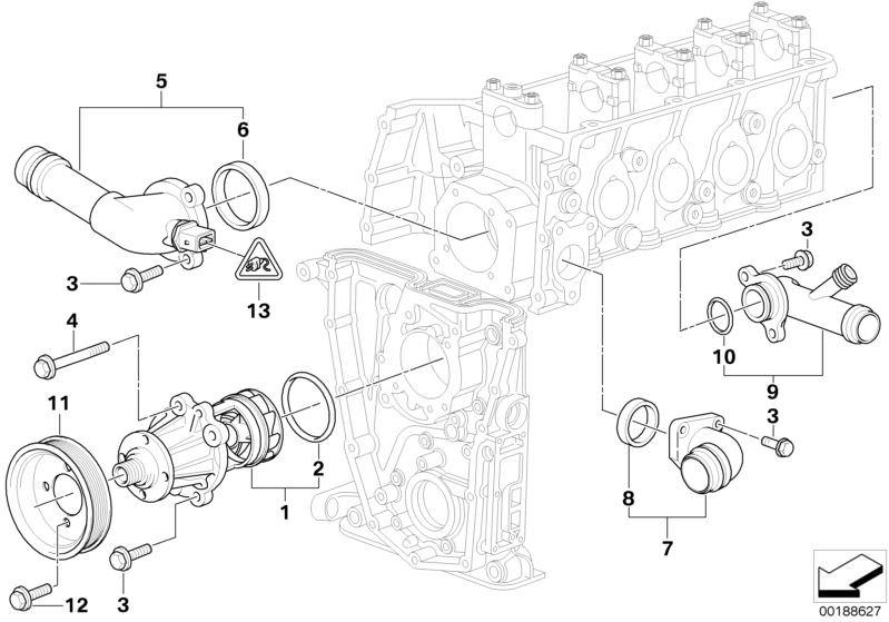BMW M43 Engine Thermostat Housing Seal Ring Gasket 11531437149