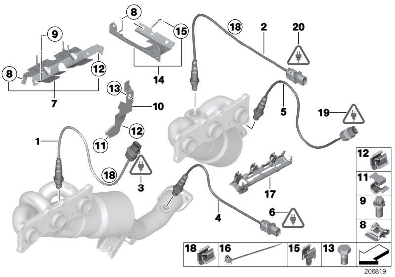 F18 FA1 HALTER ABGASANLAGE BMW 5 E60 1 E87 5 Touring E61 5 Touring F11 5 F10