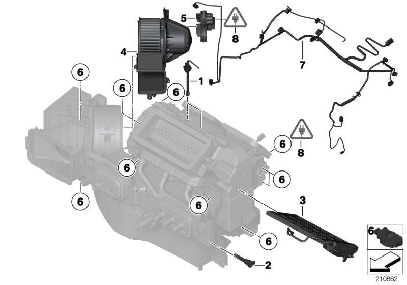 original bmw wiring harness, a/c unit, front z4 roadster e85    hubauer-shop.de  hubauer-shop.de