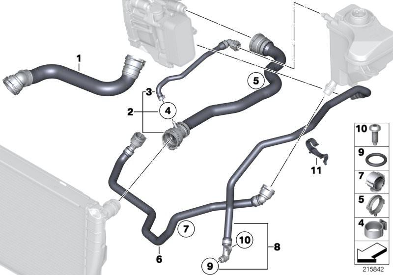 Kühler für BMW X1 E84 3er E91 E92 E90 E93 1er E82 E88 Ausgleichsbehälter f