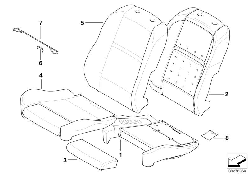 Original Bmw Seat Cover Leather X5 F15 Zimtbraun Hubauer Shop De