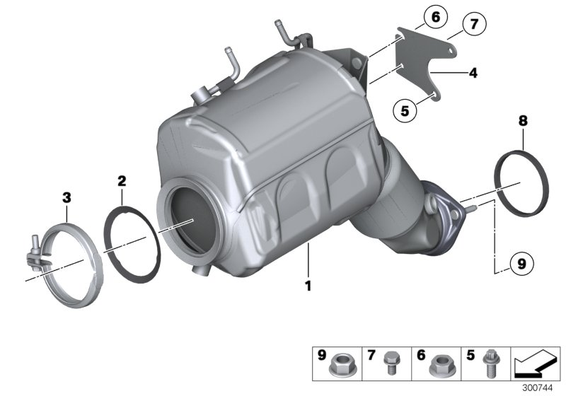 pour BMWFiltre h156wk Étalon FiltreCarburant Filtre