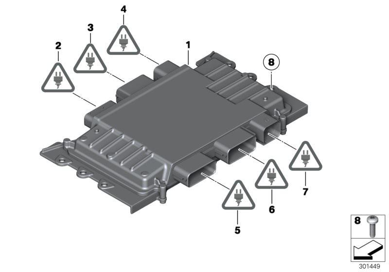 Original Bmw Basic Control Unit Dme X3 G01 Msv90 Hubauer Shop De