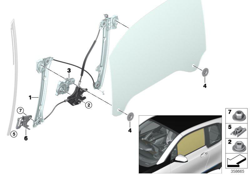 Frankberg Fensterheber Elektrisch Vorne Links Ohne Motor f/ür Cordoba Ibiza 3 III 5-TRG 2002-2009 6L4837461