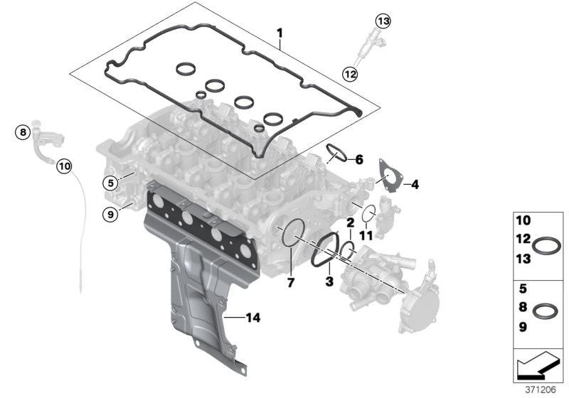 BMW cylinder head gasket engine N16 11127567877