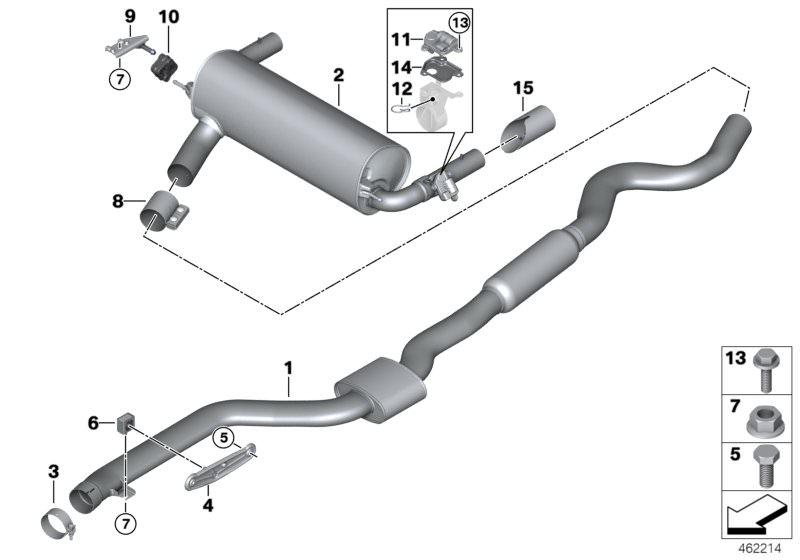 Exhaust Tailpipe Trim Black for BMW LCI 1 F20 F21 2er F22 F23 3er F30 F31