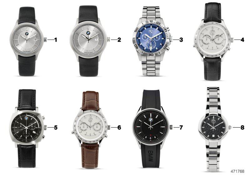c493e6302828 Original BMW watch mens sport chronograph SILVER BLUE