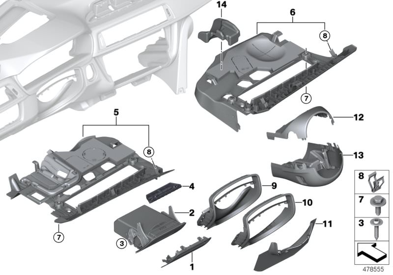 BMW Self-locking hex nut 07136801196