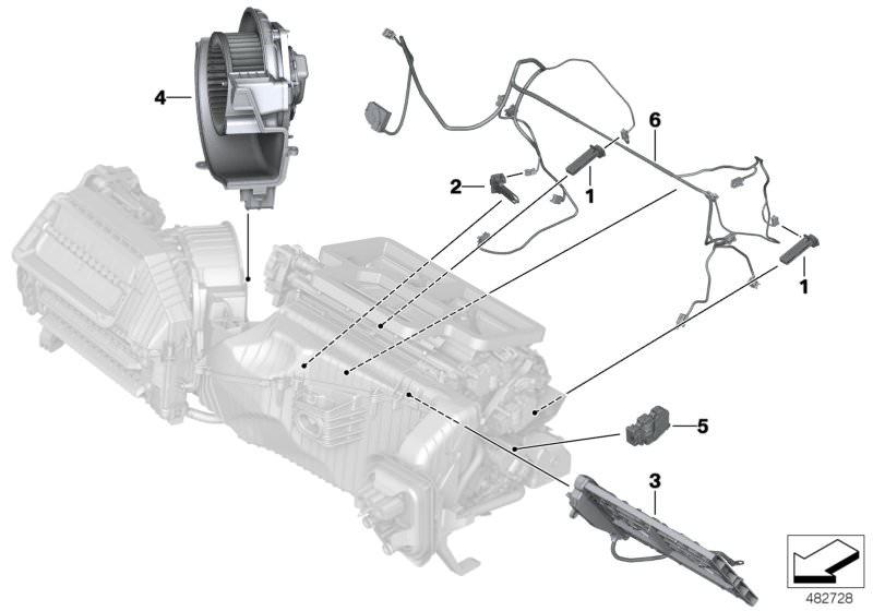 Original BMW Evaporator temperature sensor (64119238084)