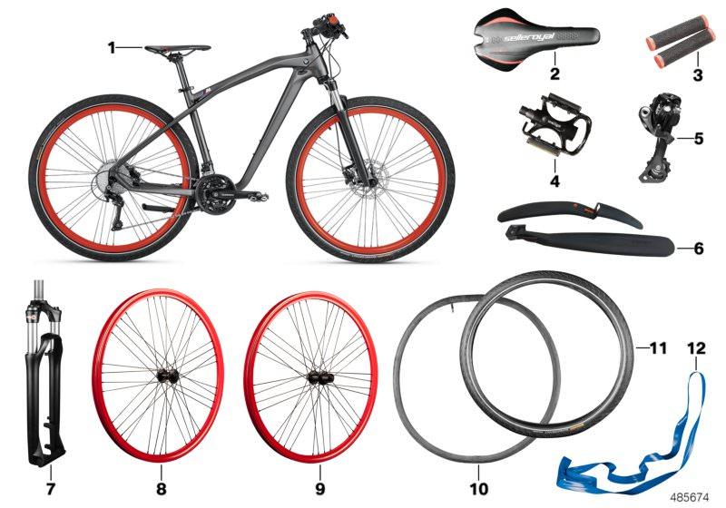 Bmw Bicycle >> Original Bmw Cruise M Bike Nbg Iii 28 Anthraz M 80912412312