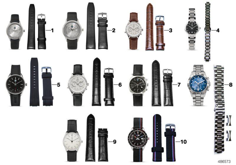 Original BMW wristwatch ladies´ day date SILVER BROWN cdf8bdbef7